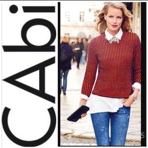 Cabi Melange Lava Striped Sweater